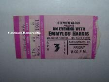 EMMYLOU HARRIS Concert Ticket Stub 1981 SANTA BARBARA Arlington Theatre RARE
