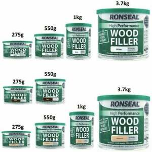 Ronseal High Performance Two Part Wood Filler / Putty / Catalyst 26g-3.7kg