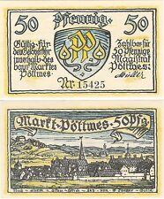 Germany 50 Pfennig 1921 Notgeld Pottmes UNC Uncirculated Banknote
