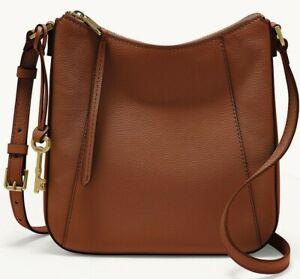 Fossil Talia Crossbody Shoulder Bag Brandy Brown Leather SHB2793213 $178 Retail