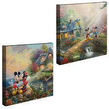 Thomas Kinkade Studios Mickey and Minnie Sweetheart Set of 2 14x14 Disney Wraps