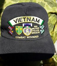 18th  military police Brigade Vietnam veterans Purple Heart Medal ball caps
