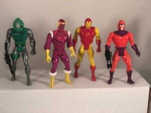 Vintage 1984 Marvel Secret Wars  Magneto ~ Dr Doom ~ Iron Man ~ Baron Zemo