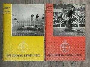 1955 REP OF IRELAND / ENGLAND v SPAIN (Friendly) SPANISH FA RFEF EDITIONS + HIBS