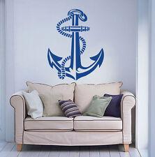 Vinyl Wall Decal Sticker Anchor Nautical Sea Ocean Wall Art Decor Poster