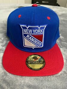 🏒 NEW YORK RANGERS NHL Hockey Classic Logo Blue & Red Snapback Hat NWT NEW 🥅