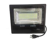 100W LED Flood light Cool White 6000K Outdoor Slim Style Spotlight black