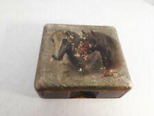 potence présentoir support  boite montre de poche  en bois motif cheval 1912