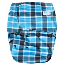 Teen / Adult Cloth Diaper Hook & Loop Closure for incontinence protection Plaid