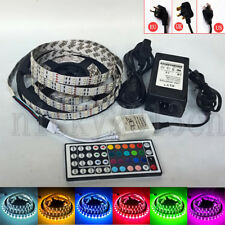 5M 5050 RGB  LED Strip Light Double Row 600LEDs IP20 12V Power Supply Controller