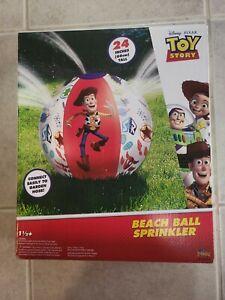 DISNEY PIXAR TOY STORY INFLATABLE BEACH BALL SPRINKLER KIDS NEW!