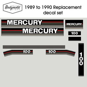Mercury Outboard decals 1990 100hp Replacement decals