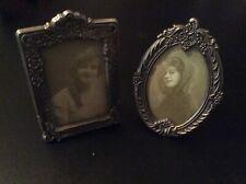 Miniature Art Deco pewter frames