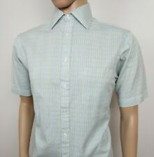 "Thomas Pink Mens Shirt White Tattersall Check 15 - 38cm Chest 40"" New RRP£100"