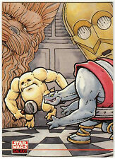 Star Wars Galaxy Series 2 #227 C-3PO & Chewbacca Card (C91)