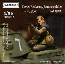 Lerchik LR35012 1/35 resin Soviet Red army girl  wwII 1940-1942(Can ride on T-34