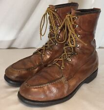 Vintage 50's Mason Moc Toe Hunting Boots Men's 10.5 D Brown Leather Made in USA