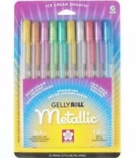 Sakura Gelly Roll Pen Set - Waterproof Gel Ink - Assorted Metallic Colors - 10PC