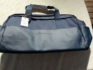 NWT Peter Millar Crown Sport zippered duffel, blue, $198, pockets