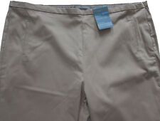 New Womens Marks & Spencer Beige Tapered Crop Trousers Size 20 Medium