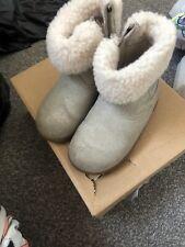 Baby Girls Gold Ugg Boots Size UK 6
