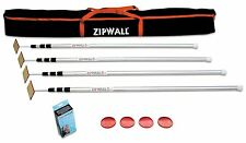 NEW ZIPWALL SLP4 4PK PLUS ALUMINUM POLES SPRING LOADED POLES DUST MOLD SYSTEM