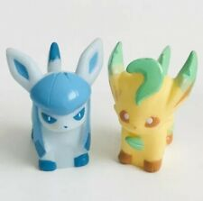 Glaceon & Leafeon Pokemon Nintendo Bandai Toy 2 Eevee Evolution Figures Bundle d