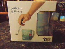 Mug  Golfing from Denmark with Club that fits in the Mug & a Wee Ball New & Boxe