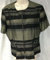 Betsy's Things Petite Casual Shirt Womens Pullover w/ Zipper Top Size 14 42852