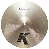 "Zildjian K0910 14"" K Mastersound Top Hi Hat Drumset Bronze Cymbal Brand - Used"