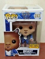 New - Pop! Funko Disney Beauty The Beast Flocked Figure Hot Topic Exclusive 243
