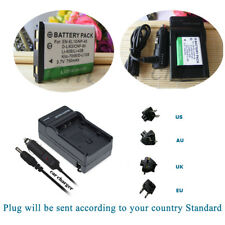 NP-45 Battery 750mAH  +Charger for Fuji Instax Mini 90 Instant Camera