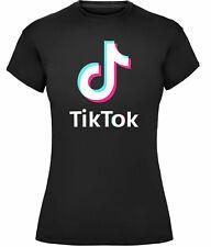 Ladies TikTok Logo T-Shirt Viral Tik Tok Music Note Videos Girls Womens Tee Top