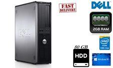 Cheap PC Windows 10 Dell Optiplex 755 Desktop Intel Core2Duo2GB RAM 80GB HDD DVD