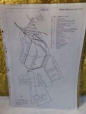 Selten Lageplan der Heeres Munition Anstalt Mölln 1941 Militaria Archiv Heer Amt