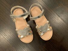naturino girl sandals size 1 silver