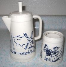 New listing 1950's Hollydale Pottery Coffee Tea Pot Sugar Merrie Dutch Malibu Mod California