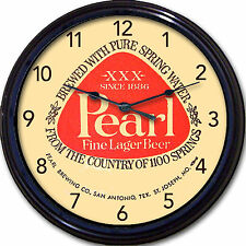 Pearl Brewing Co Beer Coaster San Antonio TX St Joseph MO Wall Clock Man Cave