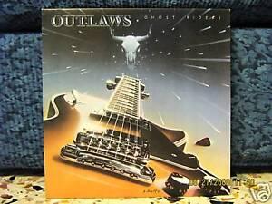 OUTLAWS-GHOST RIDERS-vinile 33 giri MAI SUONATO 1980