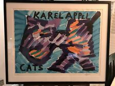 Karel Appel Lithograph Signed Numbered Cats Framed