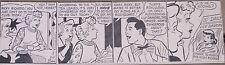 Lucille Ball I Love Lucy ORIGINAL 1950'S NEWSPAPER COMIC STRIP VINTAGE RARE!