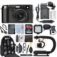 Fujifilm X100T 16.3 MP Digital Camera Body Black + 64GB Pro Video Kit