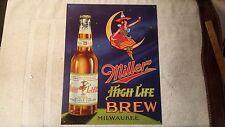 Miller High Life Brew Tin Sign 12.5w X 16h 13x16