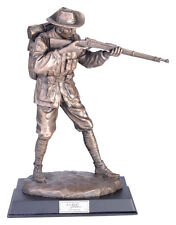 Silent Soldiers The Trooper Statue Figurine Ornament Bronze Handmade *25 cm*