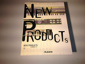 Vintage Alesis Product Brochure (New Products Summer 1995)