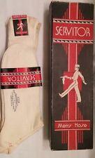 Vtg 1930s Mercerized Cotton Mens Deadstock Servitor Superior Sock Hose Stockings