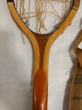 Iver Johnson Sporting Goods Manhattan Vintage Tennis Racquet, With Cover
