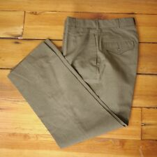 Vintage US Military Tropical Green Wool Blend Type I Class 3 Dress Pants 30 x 29