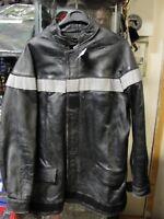 Veste de feu Sapeur Pompier taille S années 1990-2000 en cuir