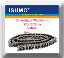 With ORing Drive Chain Natural 525-120 ATV Motorcycle 525 Pitch 120 Links